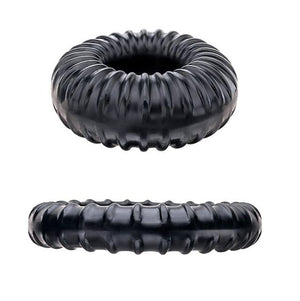 Perfect Fit Ribbed Ring Cock Ring Black or Clear For Him - Cock Rings Perfect Fit Black