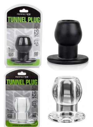 Perfect Fit Tunnel Plug in Clear Or Back Anal - Exotic & Unique Butt Plugs Perfect Fit