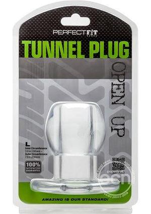Perfect Fit Tunnel Plug in Clear Or Back Anal - Exotic & Unique Butt Plugs Perfect Fit Large Clear