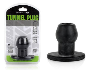 Perfect Fit Tunnel Plug in Clear Or Back Anal - Exotic & Unique Butt Plugs Perfect Fit Medium Black
