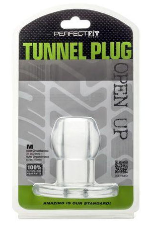 Perfect Fit Tunnel Plug in Clear Or Back Anal - Exotic & Unique Butt Plugs Perfect Fit Medium Clear