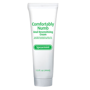 Pipedream Comfortably Numb Anal Desensitizing Cream Spearmint 44 ML 1.5 FL OZ Enhancers & Essentials - Better Anal Sex Pipedream Products