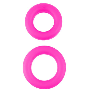 Pipedream Neon Luv Touch Stretchy Silicone Cock Ring Set Pink Cock Rings - Stretchy Cock Rings Pipedream Products