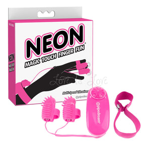 Pipedream Neon Magic Touch Finger Fun Pink Vibrators - Finger & Tongue Pipedream Products