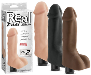 Pipedream Real Feel Lifelike Toyz No. 2 Blown and Black Vibrators - Realistic Vibrators Pipedream Products