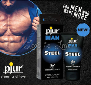 Pjur Man STEEL Gel 50 ML 1.7 FL OZ (Newly Replenished on Dec 18) Enhancers & Essentials - Hygiene & Intimate Care Pjur