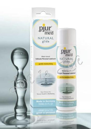 Pjur Med Natural Glide Premium Water Based 100 ML 3.4 FL OZ Lubes & Toys Cleaners - Natural & Organic Pjur