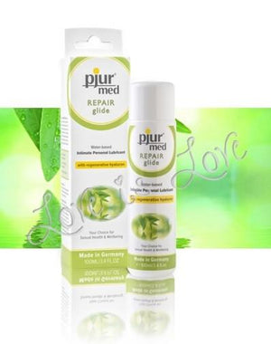 Pjur Med Repair Glide Water Based Lube 100 ML 3.4 FL OZ Lubes & Toys Cleaners - Natural & Organic Pjur