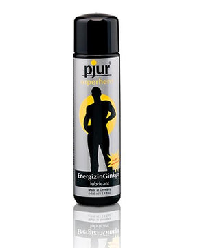 Pjur Superhero Energizin Ginkgo Water Based Lubricant 100 ML 3.4 FL OZ Water Based Pjur 100 ml (3.4 fl oz)
