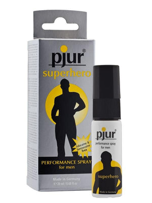 Pjur Superhero Performance for Men 20 ML Enhancers & Essentials - Delay Pjur Pjur Superhero Delay Spray 20 ml (0.68 fl oz)