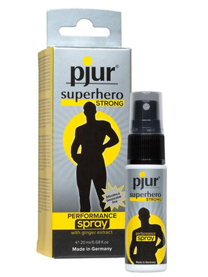 Pjur Superhero Performance for Men 20 ML Enhancers & Essentials - Delay Pjur Pjur Superhero STRONG Performance Spray 20 ml (0.68 fl oz)