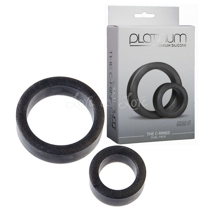 Platinum Premium Silicone The C-Rings Dual Set Charcoal (Newly Replenished)