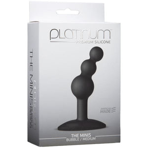 Platinum Premium Silicone The Mini's Bubble Small or Medium Black Anal - Anal Beads & Balls Doc Johnson Medium