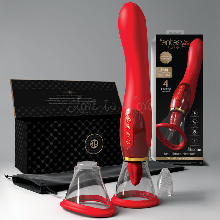 Fantasy For Her Her Ultimate Pleasure Oral Sex Simulator With Suction and G-Spot Vibrator 24K Gold Luxury Edition [2019 Multi Award Winner](Authorized Dealer)(Just Sold - Low Stock Now)