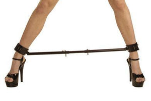 Premium Leather Ankle Cuff With Adjustable Spreader Bar UT515 Bondage - Spreader Bars Kink Industries