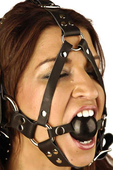 Strict Leather Ball Gag Head Harness