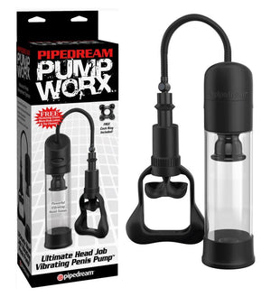 Pump Worx Ultimate Head Job Vibrating Penis Pump For Him - Pump Worx Pump Worx