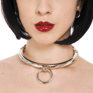 Rapture Round Stainless Steel Collar Bondage - Collars & Leash Rimba