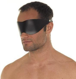 RIM 7602 Simple Leather Blindfold Bondage - Blindfolds & Masks Rimba