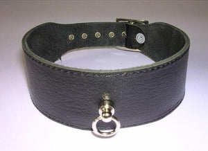 Rimba Leather Collar 4 CM Wide with Small Ring RIM 7541 Bondage - Collars & Leash Rimba