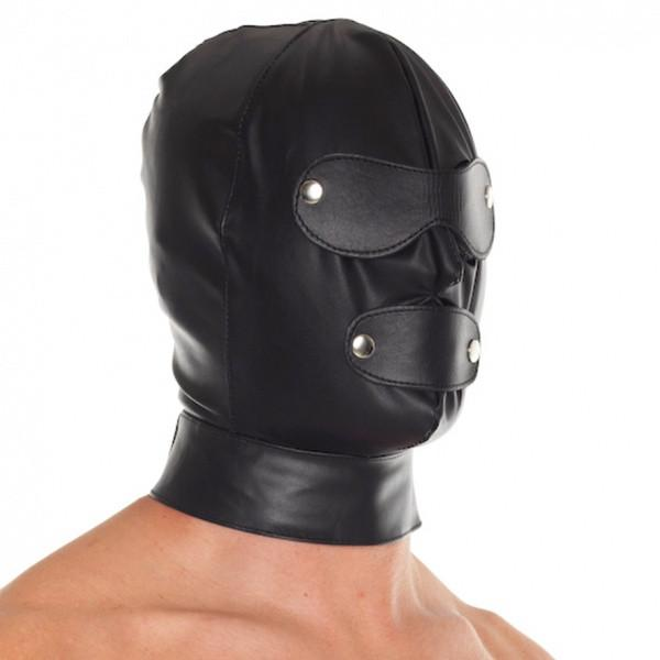 Rimba Leather Executioner Hood With Detachable Blinders And Mouth Piece RIM 7577 (Limited Stock)