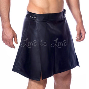 Rimba Leather Men Skirt Kilt RIM 7340.4 SM or RIM 7340.5 ML Bondage - Rimba Bondage Gear rimba