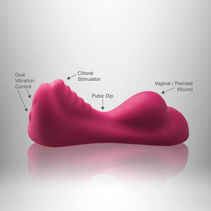 Rocks-Off 10 Speed Ruby Glow Vibrators - Clitoral & Labia Rocks-Off