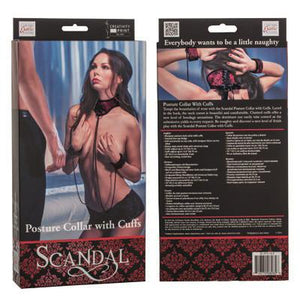 Scandal Posture Collar With Cuffs Bondage - Ankle & Wrist Restraints Scandal by CalExotics