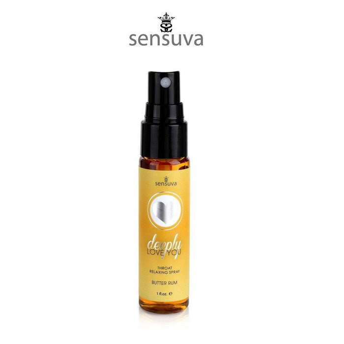 Sensuva Deeply Love You Throat Relaxing Butter Rum Spray 29 ML 1 FL OZ ( Popular Throat Relaxing Spray )