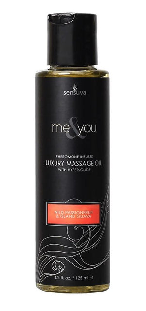 Sensuva Me & You Massage Oil 125 ML 4.2 FL OZ Enhancers & Essentials - Aromas & Stimulants Sensuva Wild Passion Fruit & Island Guava