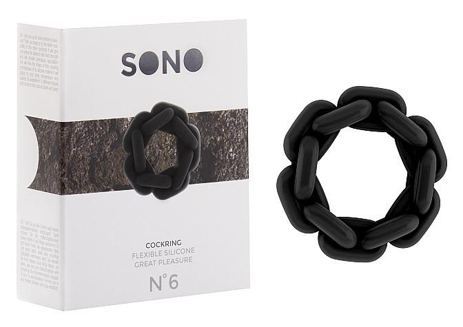 Shots Sono No. 6 Chain Silicone Cockring (Inner Circumference: 22 mm)