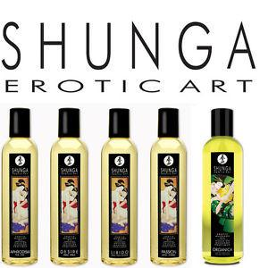 Shunga Erotic Art Massage Oil 250 ML 8 FL OZ For Us - Sexy Massage Shunga