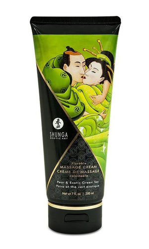 Shunga Kissble Massage Cream Pear And Exotic Green Tea 7 oz 200 ml Lubes & Cleaners - Flavoured Lubes Shunga