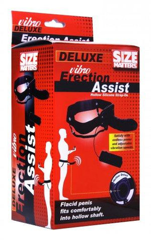 Size Matters Erection Assist Deluxe Vibro Hollow Strap On Strap-Ons & Harnesses - Hollow Strap-Ons Size Matters