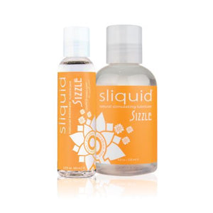 Sliquid Naturals Sizzle Water Based Stimulating Lube 2 oz or 4.2oz Lubes & Cleaners - Cooling & Warming Sliquid