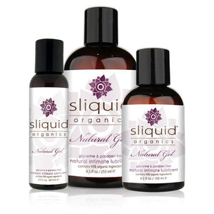 Sliquid Organics Natural Gel Lube 2 oz or 4.2 or 8.5 oz (Newly Replenished) Lubes & Toy Cleaners - Natural & Organic Sliquid