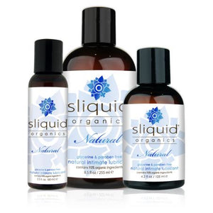 Sliquid Organics Natural Lube 2 oz or 4.2 or 8.5 oz (Newly Replenished) Lubes & Toys Cleaners - Natural & Organic Sliquid