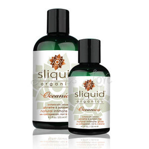 Sliquid Organics Oceanics Water Based Lubricant 125 ML 4.2 FL OZ or 255 ML 8.5 FL OZ (Newly Replenished) Lubes & Toy Cleaners - Natural & Organic Sliquid