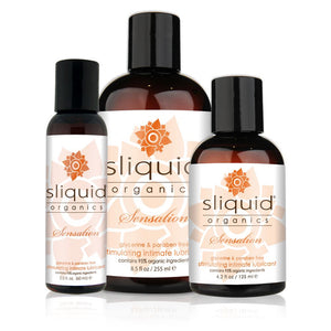 Sliquid Organics Sensation Warming Lubricant 2 oz or 4.2 or 8.5 oz (Newly Replenished On Dec 18) Lubes & Toys Cleaners - Natural & Organic Sliquid