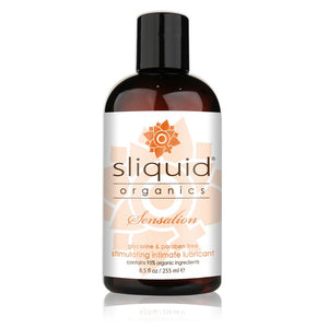 Sliquid Organics Sensation Warming Lubricant 2 oz or 4.2 or 8.5 oz (Newly Replenished On Dec 18) Lubes & Toys Cleaners - Natural & Organic Sliquid 8.5 oz