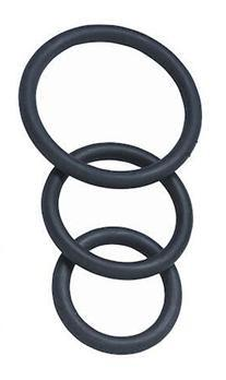 Spartacus 3 Pack Nitrile Cock Ring Set (Durable Cock Rings) Cock Rings - Cock Ring Sets Spartacus