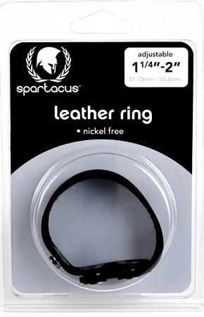 Spartacus Leather Cock Ring Nickel Free (Allergen Free)(Best Seller Good Quality Leather) Bondage - Spartacus Bondage Gear Spartacus