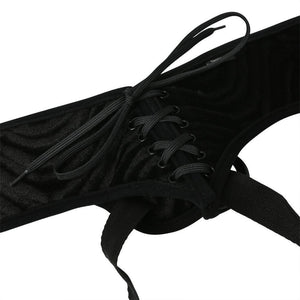 Sportsheets Vibrating Corsette Strap-On Black (Good Reviews)[Purple Discontinued] Strap-Ons & Harnesses - Harnesses Sportsheets