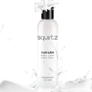 Squirtz Cum Lube Real Look Real Feel Unscented 185 ml 6.3 fl. oz (Retail Popular Cum Lube) Lubes & Toy Cleaners - Water Based Topco Sales