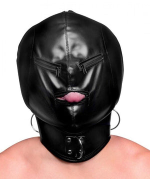 STRICT Bondage Hood with Posture Collar and Zippers Bondage - Hoods & Muzzles STRICT