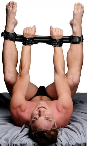 STRICT Deluxe Rigid Spreader Bar Bondage - Spreader Bars STRICT