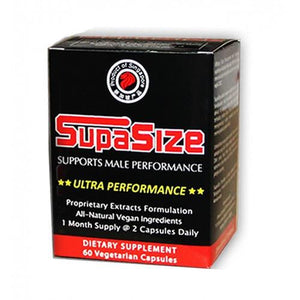 Supasize Ultra Performance 60 Capsules - Supports Male Performance For Him - Penis Enhancement supasize 1 Box