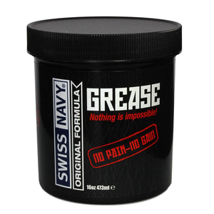 Swiss Navy Original Grease Oil Based Lubricant 473 ml (16 oz) or 59 ml (2 oz) Lubes & Toy Cleaners - Oil Based Swiss Navy 473 ml (16 oz)