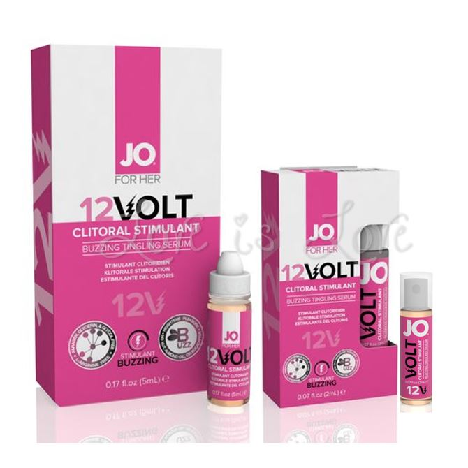 System JO For Her 12Volt Clitoral Stimulant Buzzing Tingling Serum