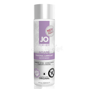 System JO For Her Agape Original Lubricant 120 ml 4 Fl Oz Lubes & Toy Cleaners - Cooling & Warming System JO